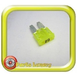 20 Amp Yellow Micro2 Wedge Blade Fuses x5