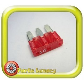 10 Amp Red 3 Leg Micro3 Wedge Blade Fuse x1
