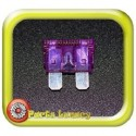 35 Amp Dark Purple Standard Wedge Blade ATS Fuse x1