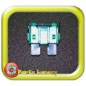 30 Amp Green Standard Wedge Blade ATS Fuses x5
